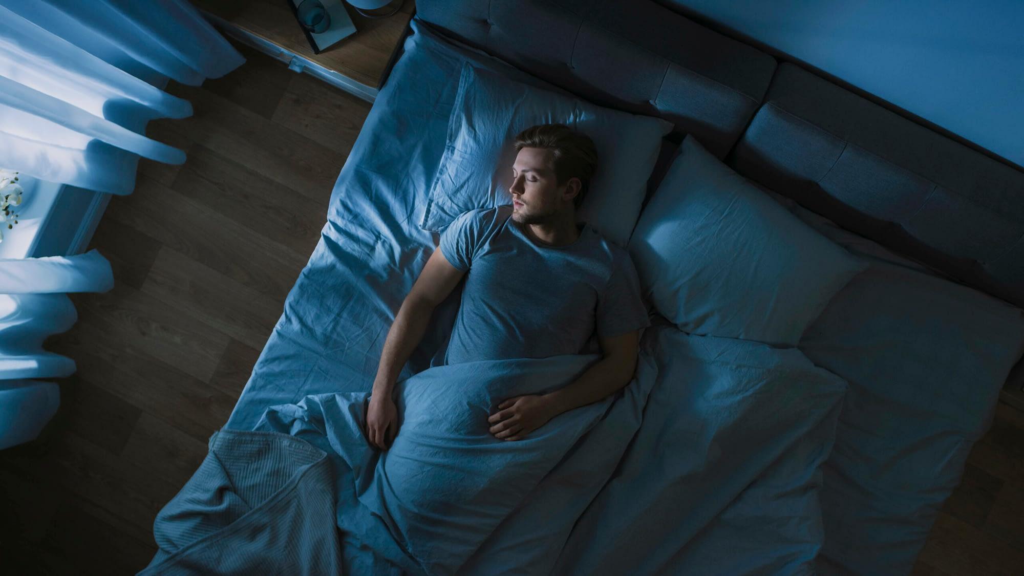Man having a restful sleep